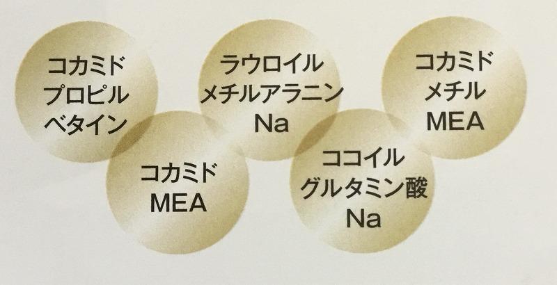 5種類のアミノ酸系洗浄成分