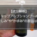 成分解析|チャップアップシャンプーのきしみ・かゆみの原因は?
